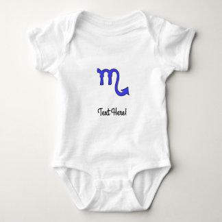 Scorpio symbol baby bodysuit