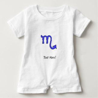 Scorpio symbol baby romper