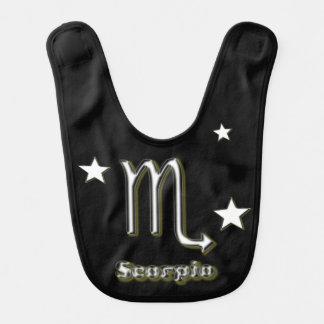 Scorpio symbol bibs