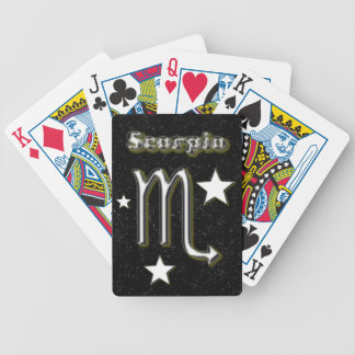 Scorpio symbol bicycle playing cards