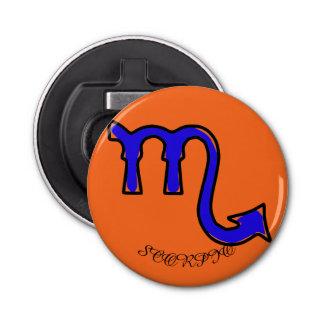 Scorpio symbol bottle opener