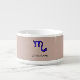 Scorpio symbol bowl