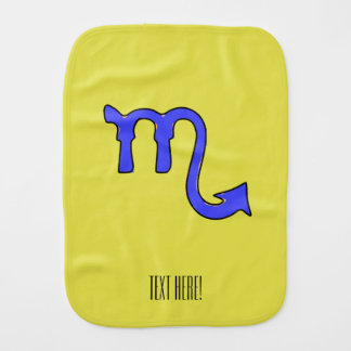 Scorpio symbol burp cloths