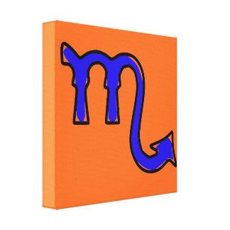 Scorpio symbol canvas print