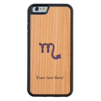 Scorpio symbol carved cherry iPhone 6 bumper case