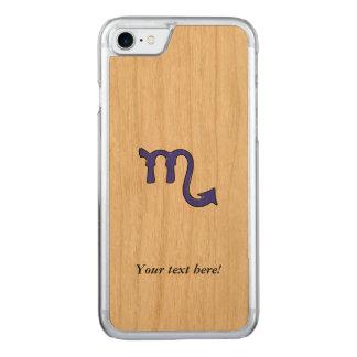 Scorpio symbol carved iPhone 8/7 case