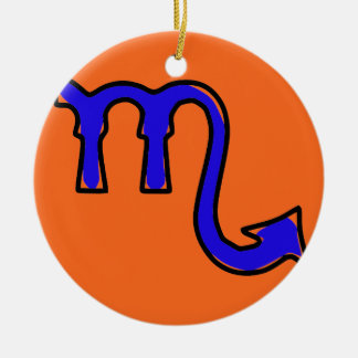 Scorpio symbol ceramic ornament