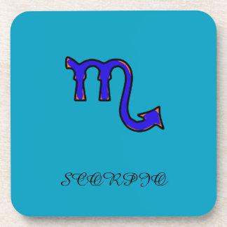 Scorpio symbol coaster
