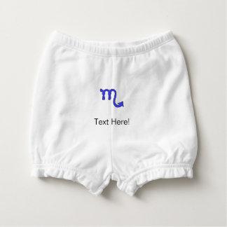 Scorpio symbol diaper cover