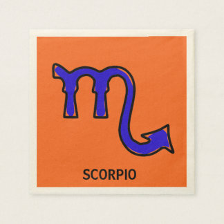 Scorpio symbol disposable napkins