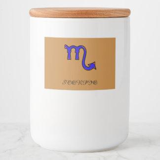 Scorpio symbol food label
