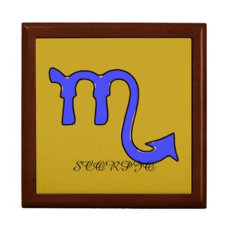Scorpio symbol gift box
