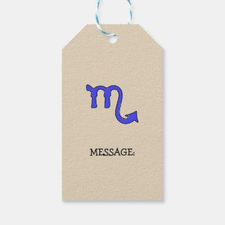 Scorpio symbol gift tags