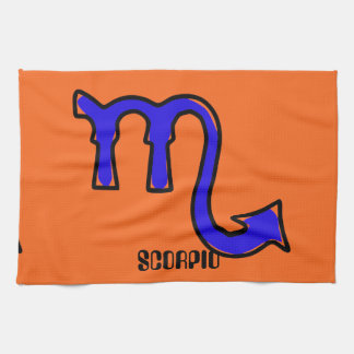 Scorpio symbol hand towel