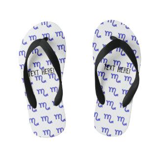 Scorpio symbol kid's flip flops
