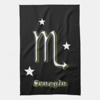 Scorpio symbol kitchen towel