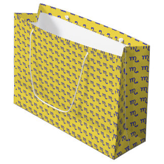 Scorpio symbol large gift bag