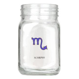 Scorpio symbol mason jar