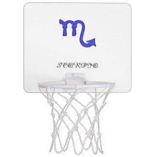 Scorpio symbol mini basketball hoop