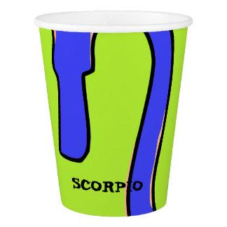 Scorpio symbol paper cup