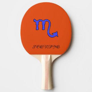 Scorpio symbol ping pong paddle