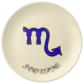 Scorpio symbol plate