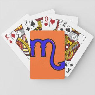 Scorpio symbol playing cards