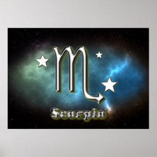 Scorpio symbol poster