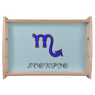 Scorpio symbol serving tray