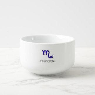 Scorpio symbol soup mug