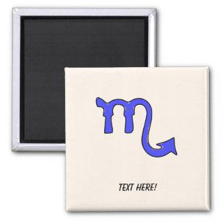 Scorpio symbol square magnet