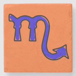 Scorpio symbol stone coaster