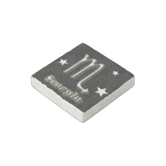 Scorpio symbol stone magnets