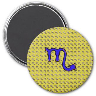 Scorpio symbol t 3 inch round magnet