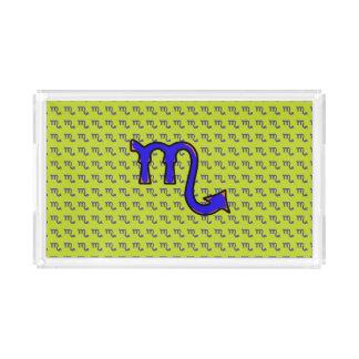 Scorpio symbol t acrylic tray