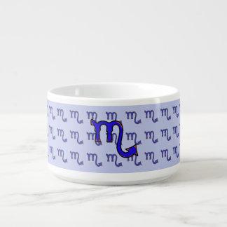 Scorpio symbol t bowl