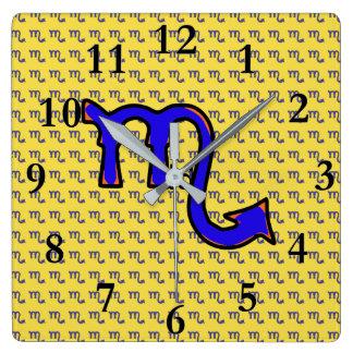 Scorpio symbol t clocks