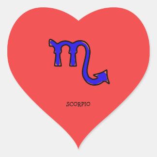 Scorpio symbol t heart sticker