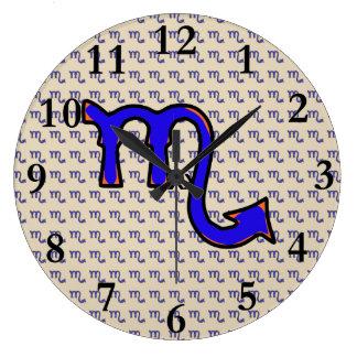 Scorpio symbol t large clock