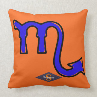 Scorpio symbol throw pillow