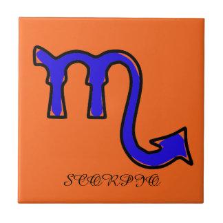 Scorpio symbol tile