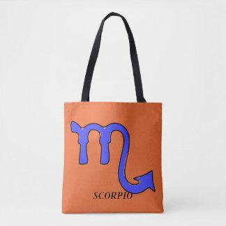 Scorpio symbol tote bag