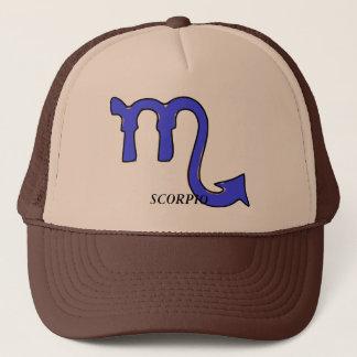 Scorpio symbol trucker hat