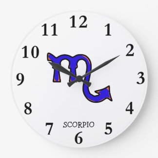 Scorpio symbol wall clocks