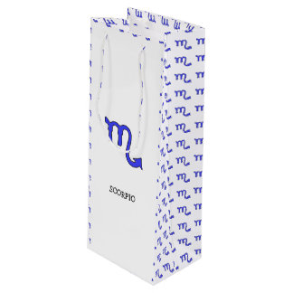 Scorpio symbol wine gift bag