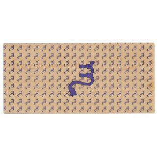 Scorpio symbol wood USB flash drive