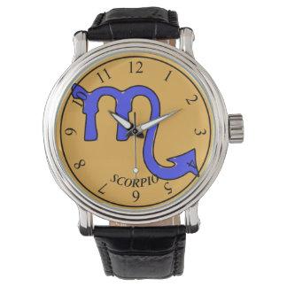 Scorpio symbol wristwatch
