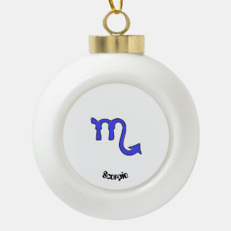 !Scorpio t Ceramic Ball Christmas Ornament