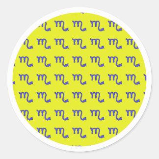 !Scorpio t Classic Round Sticker