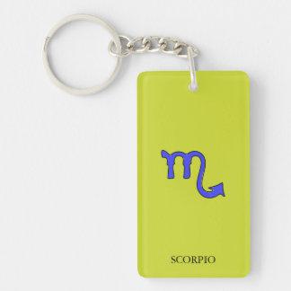 !Scorpio t Double-Sided Rectangular Acrylic Keychain